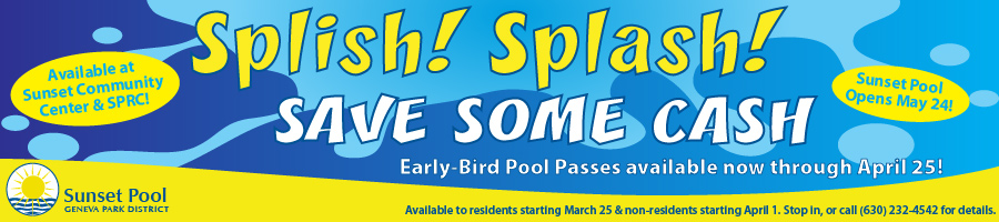 Early Bird Pool Pass