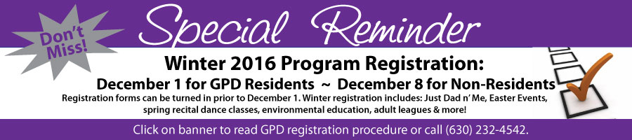 Winter Registration