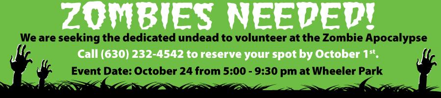 Zombie Volunteer Banner