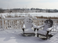 Peck Farm Park snow chairs