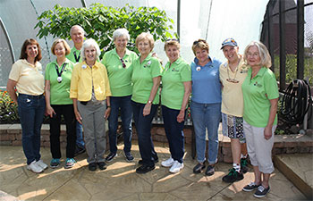 group of volunteers at peck farm